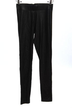 FB Sister Pantalón de cuero negro look casual