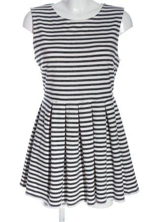 FB Sister Mini Dress white-light grey allover print casual look