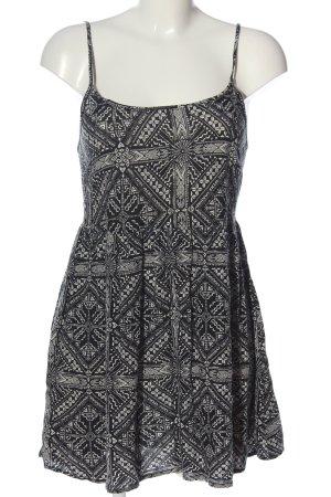 FB Sister Mini Dress black-natural white allover print casual look