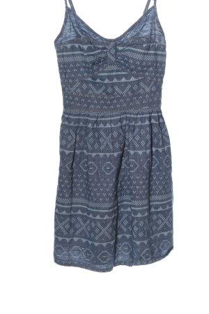 FB Sister Minikleid blau-hellgrau grafisches Muster Casual-Look