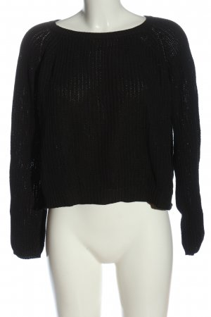 FB Sister Oversized Pullover schwarz Casual-Look