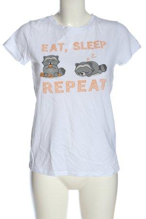 FB Sister Camiseta estampada blanco-negro estampado temático look casual