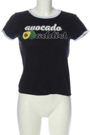 FB Sister Camiseta estampada negro-blanco estampado temático look casual