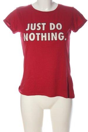 FB Sister Camiseta estampada rojo-negro estampado temático look casual