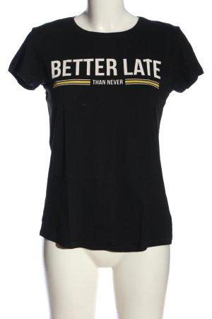 FB Sister Camiseta estampada letras impresas look casual