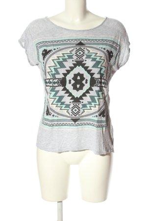 FB Sister Print-Shirt Motivdruck Casual-Look