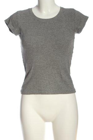 FB Sister Ribbed Shirt light grey flecked casual look