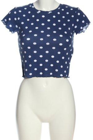 FB Sister Camisa acanalada azul-blanco look casual