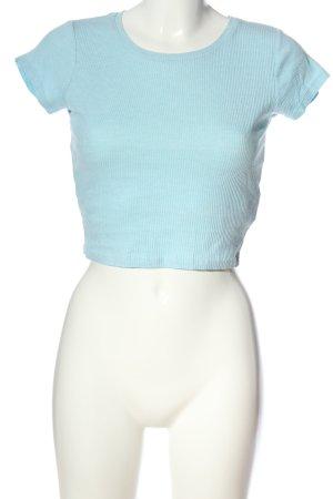 FB Sister Camisa acanalada azul estampado a rayas look casual