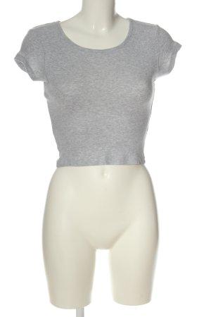 FB Sister Chemise côtelée gris clair style décontracté