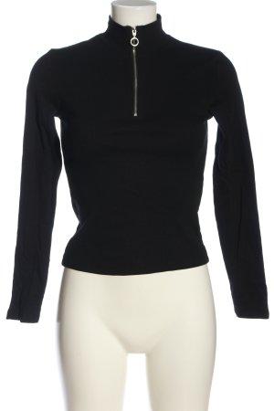 FB Sister Prążkowana koszulka czarny W stylu casual
