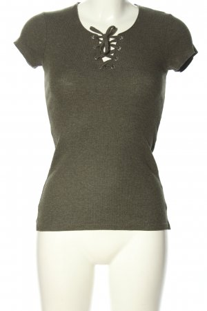 FB Sister Ribbed Shirt khaki casual look