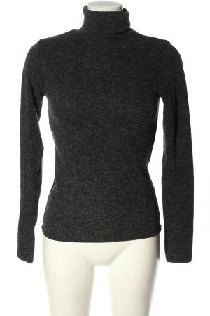 FB Sister Maglia a collo alto grigio chiaro puntinato stile casual