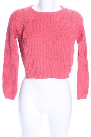FB Sister Rundhalspullover pink Casual-Look