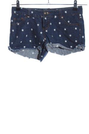 FB Sister Shorts blau-weiß Motivdruck Casual-Look