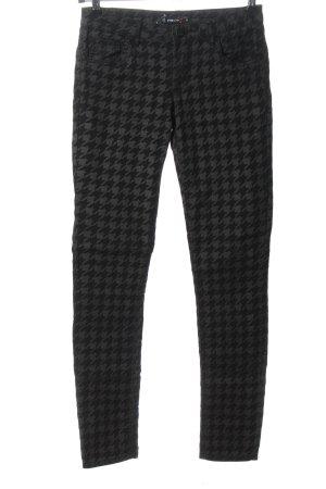 FB Sister Slim Jeans black-light grey allover print casual look