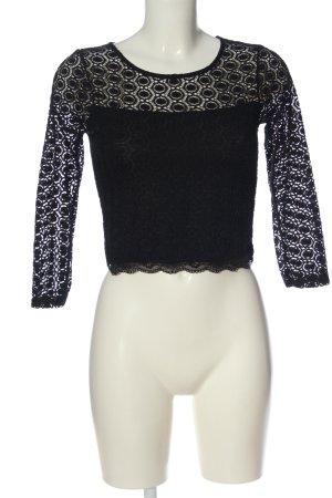 FB Sister Koronkowa bluzka czarny W stylu casual