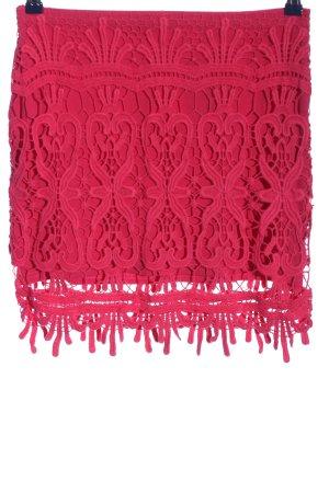 FB Sister Falda de encaje rojo Patrón de tejido look casual