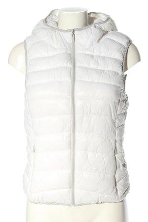 FB Sister Gewatteerd vest wit quilten patroon casual uitstraling
