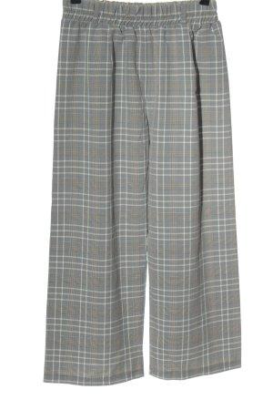 FB Sister Pantalon en jersey gris clair-blanc motif à carreaux