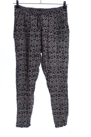 FB Sister Pantalon en jersey noir-blanc cassé imprimé allover