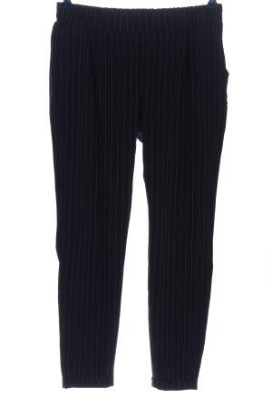 FB Sister Pantalon en jersey bleu-blanc motif rayé style décontracté