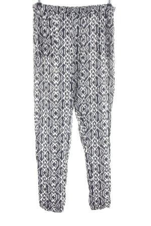FB Sister Pantalon en jersey noir-blanc motif graphique style décontracté