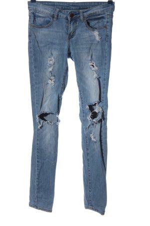 FB Sister Straight-Leg Jeans blau Casual-Look