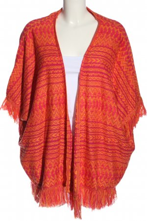 FB Sister Strick Cardigan rot grafisches Muster Casual-Look