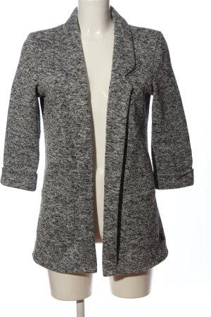 FB Sister Blazer tejido gris claro-negro moteado look casual