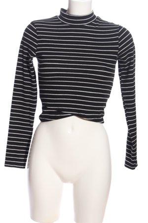 FB Sister Strickpullover schwarz-weiß Streifenmuster Casual-Look