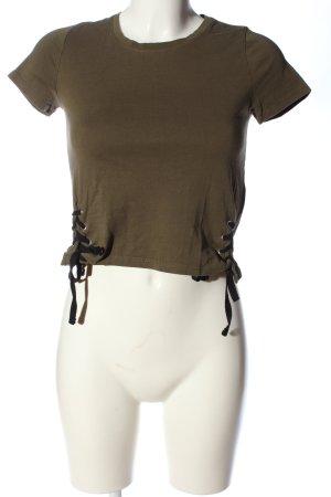 FB Sister T-shirts en mailles tricotées brun style décontracté