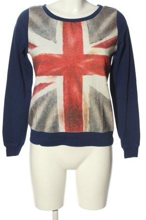 FB Sister Sweatshirt abstraktes Muster Casual-Look