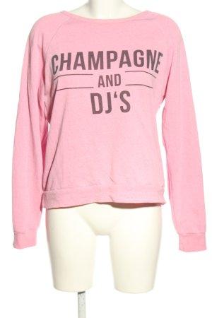 FB Sister Sweatshirt pink-schwarz Motivdruck Casual-Look