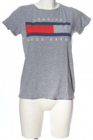 FB Sister T-Shirt hellgrau-rot meliert Casual-Look