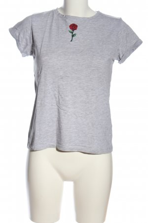 FB Sister T-Shirt hellgrau meliert Casual-Look