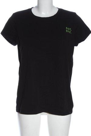 FB Sister T-Shirt schwarz-blassgelb Elegant