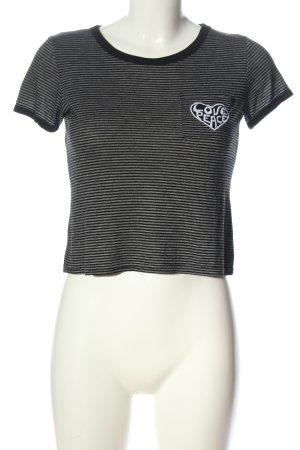 FB Sister T-Shirt schwarz-weiß Motivdruck Casual-Look
