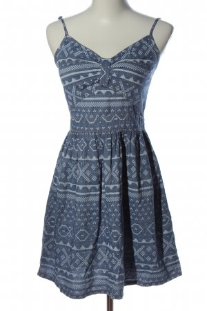 FB Sister Pinafore dress blue mixed pattern casual look