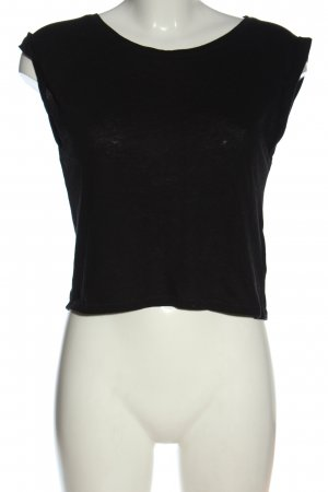 FB Sister Koszulka z dekoltem w łódkę czarny W stylu casual