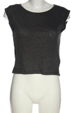 FB Sister Koszulka z dekoltem w łódkę jasnoszary Melanżowy W stylu casual