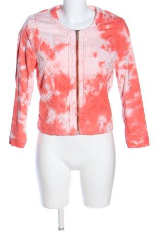 FB Sister Übergangsjacke rot-pink abstraktes Muster Casual-Look