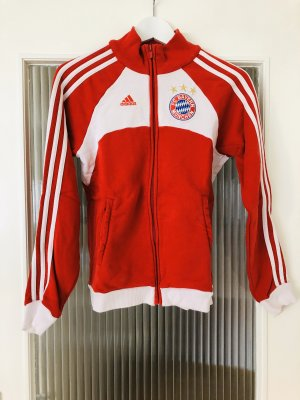 Adidas Sweatjack rood-wit