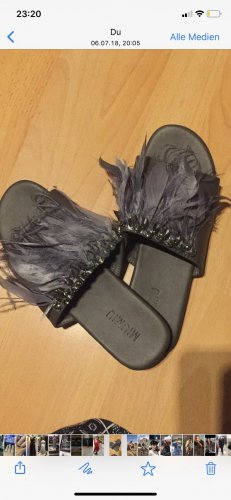 Sabots grey leather