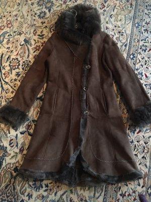 Arma Collection Abrigo de cuero marrón claro-marrón Cuero