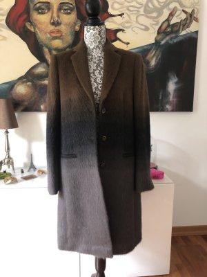 René Lezard Winter Coat multicolored alpaca wool