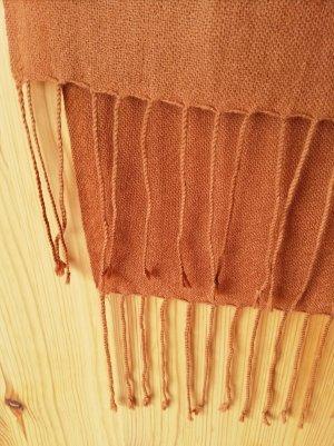 Waschbär Pashmina light brown-cognac-coloured
