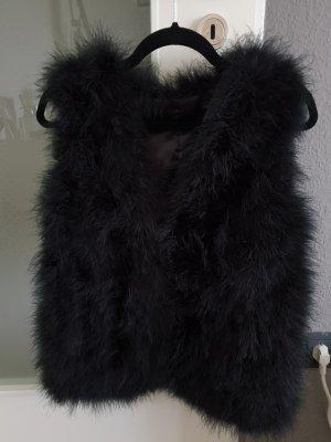 no name Fur vest black