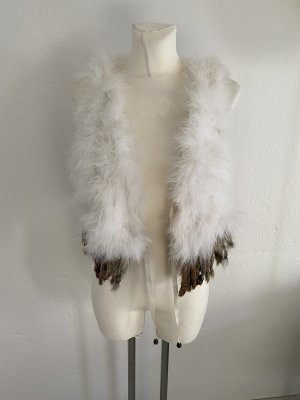 you and me Fur vest white-light brown