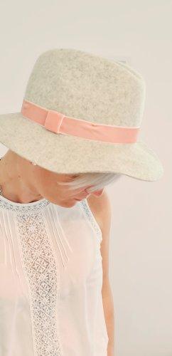 Zara Home Chapeau en feutre gris clair-rosé